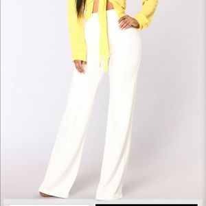 White high waisted pants- NEW
